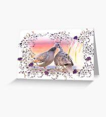 Doves in love 0016 Greeting Card