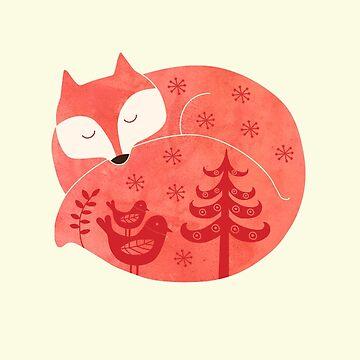 sleeping fox by Milkyprint