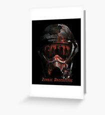 Zombie Apocalipse Greeting Card
