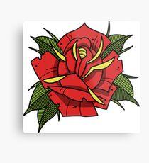 Neotraditional tattoo rose Metal Print