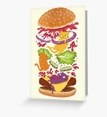 Cat Burger Greeting Card