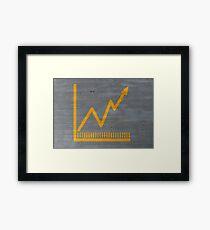 graph konzept auf zementsruktur hintergrund Framed Print
