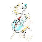 Cello music, created with a quill by ArtyMargit
