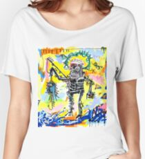 Jean-Michel Basquiat - Fishing 1981 Women's Relaxed Fit T-Shirt