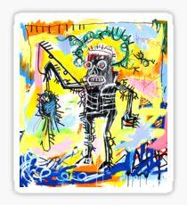 Jean-Michel Basquiat - Fishing 1981 Sticker