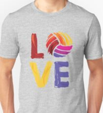 Volleyball Design - Colorful Love Volleyball  T-Shirt