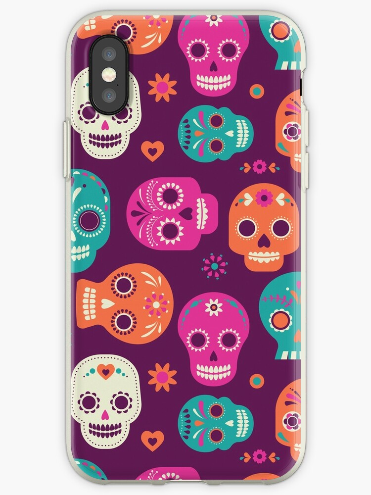 cute colorful mexican candy skulls day of the dead dia de los