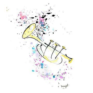 Tinta de trompeta de dibujo de ArtyMargit