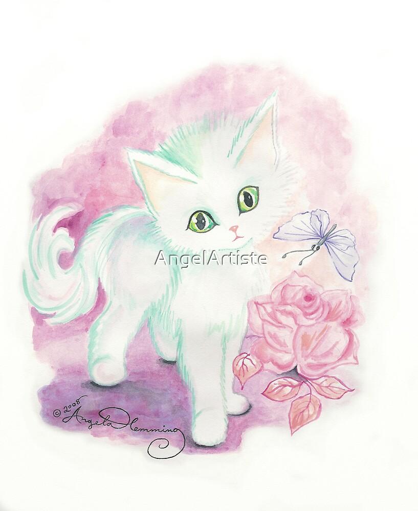 The Little Angel Kitten  by AngelArtiste