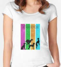 Italian Greyhound simplistic Women's Fitted Scoop T-Shirt