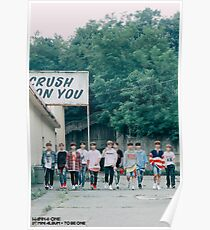 Wanna Oneㅣ1st Mini Album Photo 워너원의 데뷔 앨범 1X1=1 (TO BE ONE) Energetic BTS  Poster