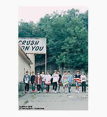 Wanna Oneㅣ1st Mini Album Photo 워너원의 데뷔 앨범 1X1=1 (TO BE ONE) Energetic BTS  Photographic Print