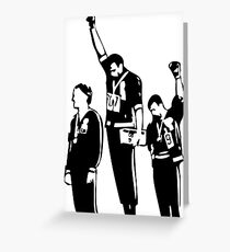1968 Olympics Black Power Salute Greeting Card