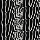 Zebra Natural Animal Design Black And White  by EllenDaisyShop