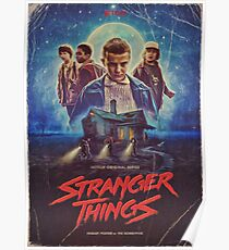 Stranger Things - Retro Design  Poster