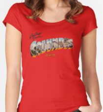 Greetings from Columbus, Ohio 1 Women's Fitted Scoop T-Shirt