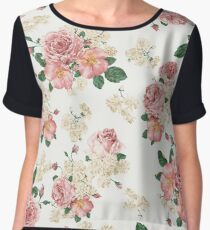Vintage Flower Women's Chiffon Top
