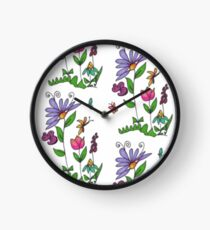 Handrawn Fleur Clock