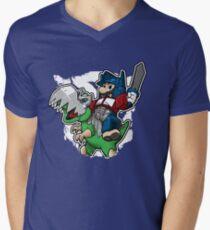 Optimus Mario Camiseta para hombre de cuello en v