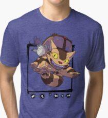 Totoro y Nekobus happy trip Camiseta de tejido mixto