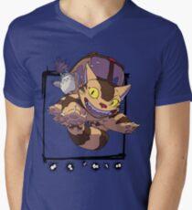 Totoro y Nekobus happy trip Camiseta de cuello en V