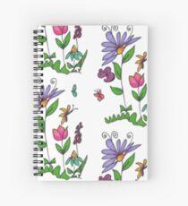 Handrawn Fleur Spiral Notebook