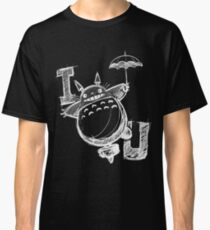 I Love Totoro and I love you too Camiseta clásica