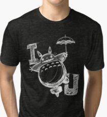 I Love Totoro and I love you too Camiseta de tejido mixto