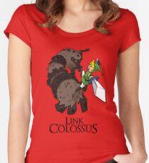 Link y el Coloso Camiseta entallada de cuello redondo