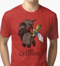 Link y el Coloso Camiseta de tejido mixto