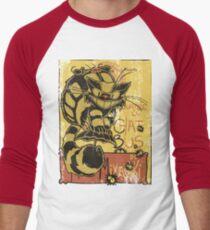 Nekobus, le Chat Noir cartel Camiseta ¾ bicolor para hombre
