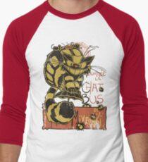Nekobus, le Chat Noir Camiseta ¾ bicolor para hombre