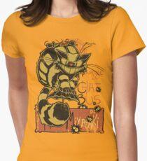 Nekobus, le Chat Noir Camiseta entallada para mujer