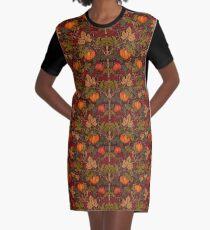 Autumn Pumpkins Graphic T-Shirt Dress
