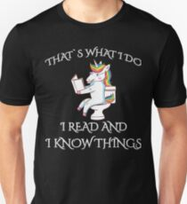 Readers Gonna Read I Read And I Know Things Teacher Unicorn Unisex T-Shirt