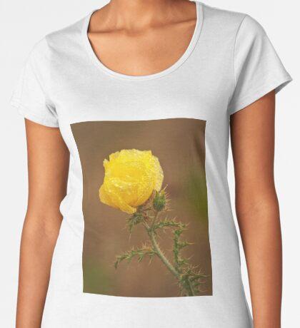 Yellow Prickly Poppy Women's Premium T-Shirt