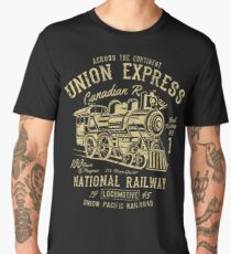 National Railway Retro Vintage Men's Premium T-Shirt
