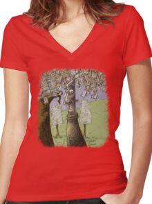 'The Envelope Grower' Women's Fitted V-Neck T-Shirt