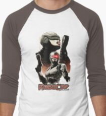Femme Cop Camiseta ¾ bicolor para hombre