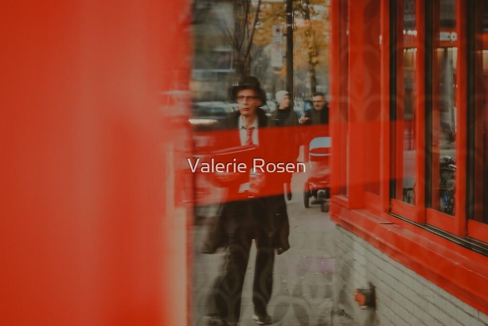 Red on St-Laurent by Valerie Rosen