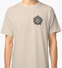 Supernatural Demon Possession Protection (Badge Version) [BLACK] Classic T-Shirt