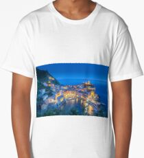 Vernazza at night Cinque Terre Liguria Italy Long T-Shirt