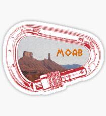 Moab Climbing Carabiner Sticker