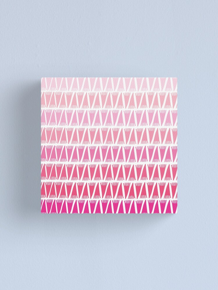 Alternate view of Teepee Gradient Pink  Canvas Print