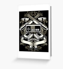 Video Games Retro Vintage Greeting Card