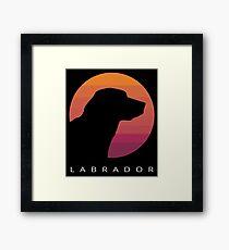 Retro Style Labrador Retriever  Framed Print