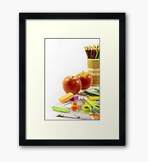Everything you need for this return to class Framed Print