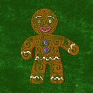 Swirly Gingerbread Man by . VectorInk