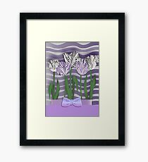 ABSTRACT TULIP WAVE. Framed Print