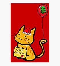Merry Christmas Manga Cat Photographic Print